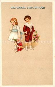 AK / Ansichtskarte Neujahr Kinder Kasperlepuppe  Neujahr