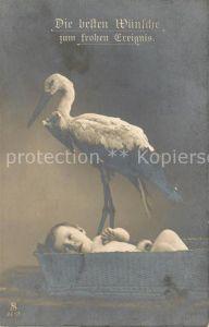 AK / Ansichtskarte Geburt Baby Storch Foto SLJFF Nr. 2607 Geburt