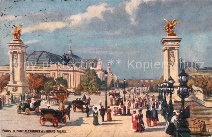 AK / Ansichtskarte Verlag_Tucks_Oilette_Nr. 75 Paris Pont Alexandre Grand Palais  Verlag_Tucks_Oilette_Nr.