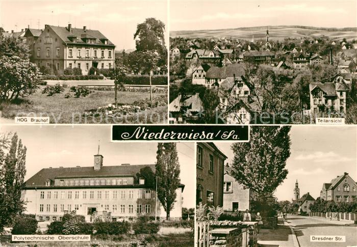 AK / Ansichtskarte Niederwiesa HOG Brauhof Polytechnische Oberschule  Niederwiesa