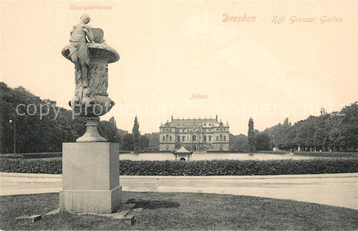 AK / Ansichtskarte Dresden Kgl Grosser Garten Ueppigkeitsvase Palais Dresden 0