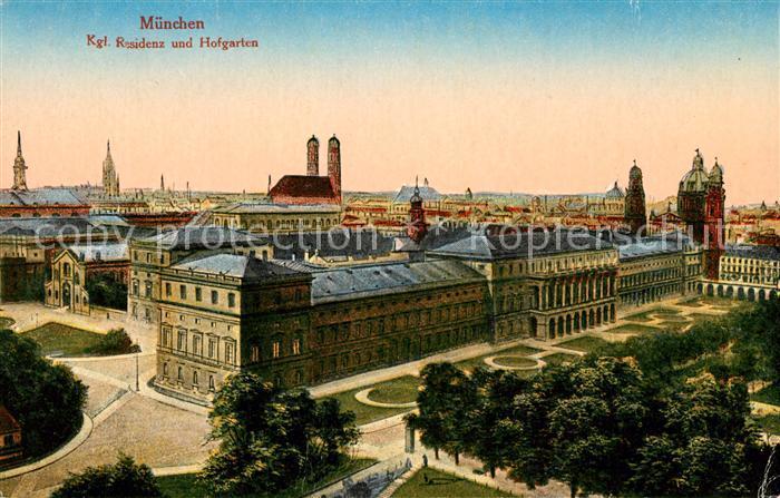 AK / Ansichtskarte Muenchen Kgl Residenz und Hofgarten Muenchen