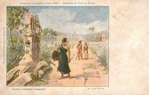 AK / Ansichtskarte Exposition_Universelle_Paris_1900 Ruines d Angkor Cambodge  Exposition_Universelle