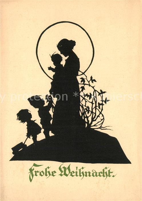 Weihnachten Scherenschnitt.36553 Biedermeier 1906 Weihnachten Scherenschnitt