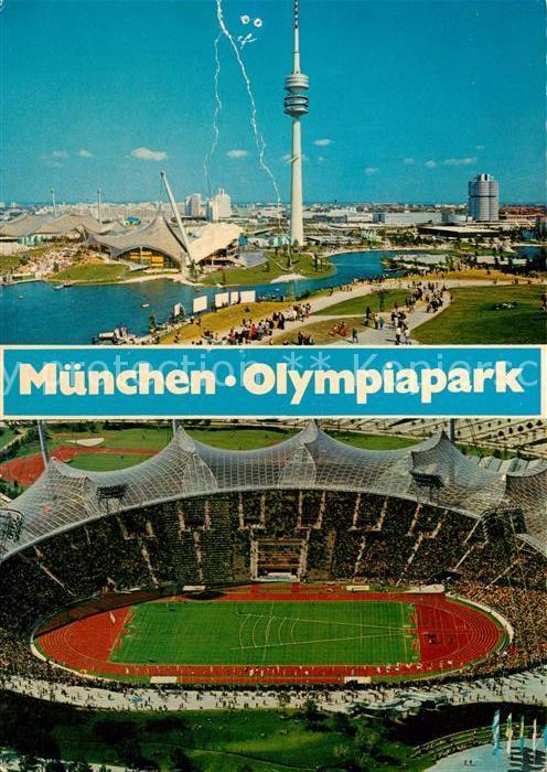AK / Ansichtskarte Stadion Muenchen Olympiapark  Stadion