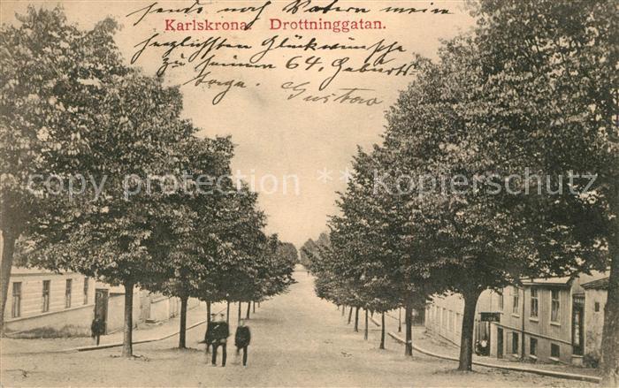 AK / Ansichtskarte Karlskrona Drottninggatan Karlskrona