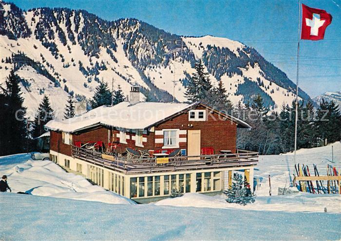 AK / Ansichtskarte Wiesenberg Skihaus Stans Gummenmattli Wiesenberg