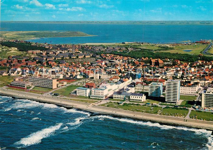 AK / Ansichtskarte Norderney_Nordseebad Fliegeraufnahme Kaiserstrasse  Norderney_Nordseebad