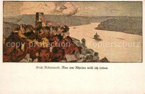 AK / Ansichtskarte Caub Rheinpartie Kuenstlerkarte Erich Rikutowski Caub