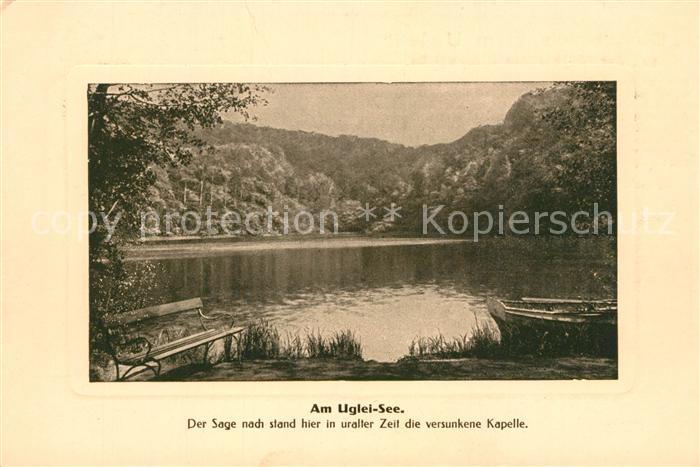 AK / Ansichtskarte Uglei_See Gasthaus zum Uglei Seepartie Uglei_See