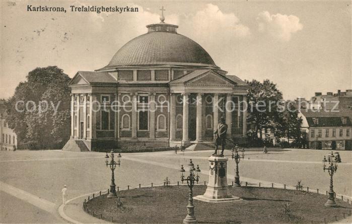 AK / Ansichtskarte Karlskrona Trefaldighetskyrkan Karlskrona