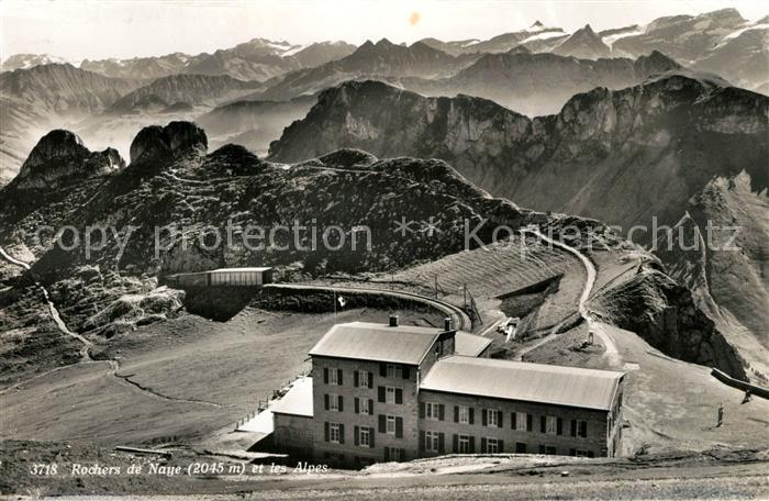 AK / Ansichtskarte Rochers_de_Naye et les Alpes Rochers_de_Naye
