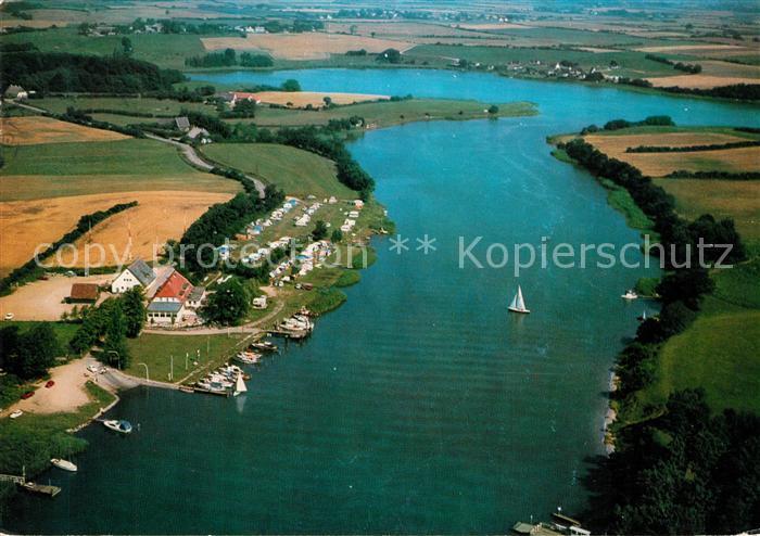 AK / Ansichtskarte Klein Brodersby Missunder Faehrhaus Fliegeraufnahme