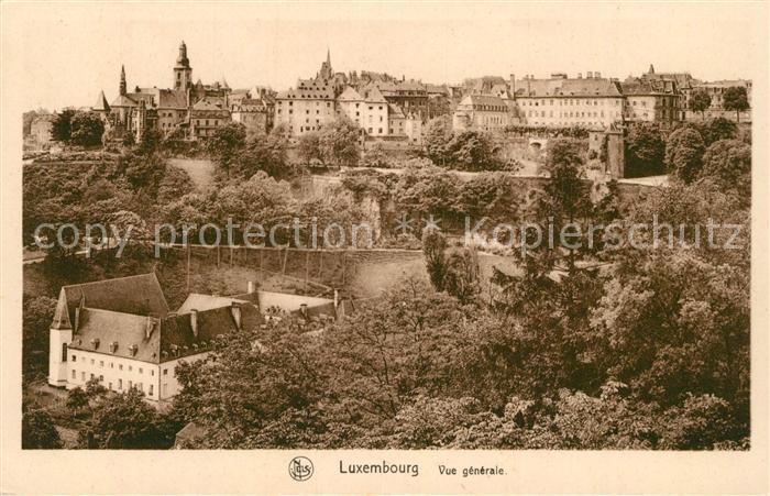 AK / Ansichtskarte Luxembourg Vue generale Luxembourg