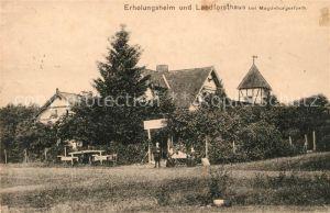 AK / Ansichtskarte Magdeburgerforth Erholungsheim und Landforsthaus Magdeburgerforth