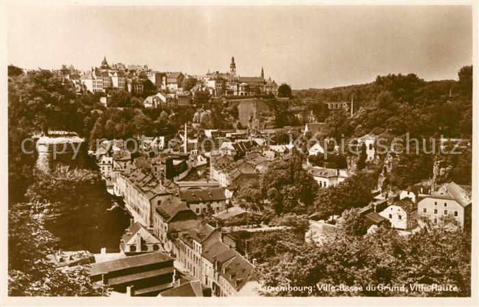 AK / Ansichtskarte Luxembourg Ville Basse du Grund Ville Haute Luxembourg