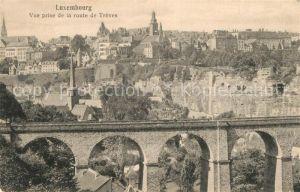 AK / Ansichtskarte Luxembourg Vue prise de la route de Treves Luxembourg
