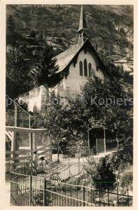 AK / Ansichtskarte Zermatt_VS Englische Kirche Zermatt_VS