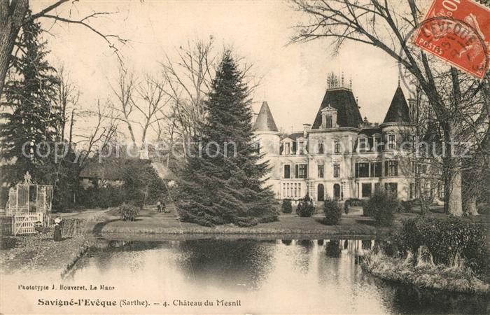 AK / Ansichtskarte Savigne l_Eveque Chateau du Mesnil Savigne l Eveque