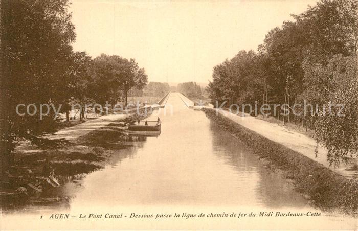 AK / Ansichtskarte Agen_Lot_et_Garonne Le Pont Canal  Agen_Lot_et_Garonne
