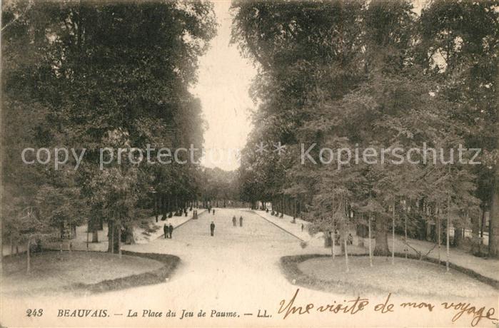 AK / Ansichtskarte Beauvais Place du Jeu e Paume Beauvais