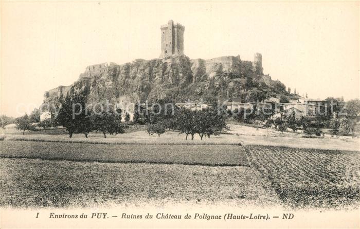 AK / Ansichtskarte Puy en Velay_Le Ruines du Chateau de Polignac Puy en Velay_Le