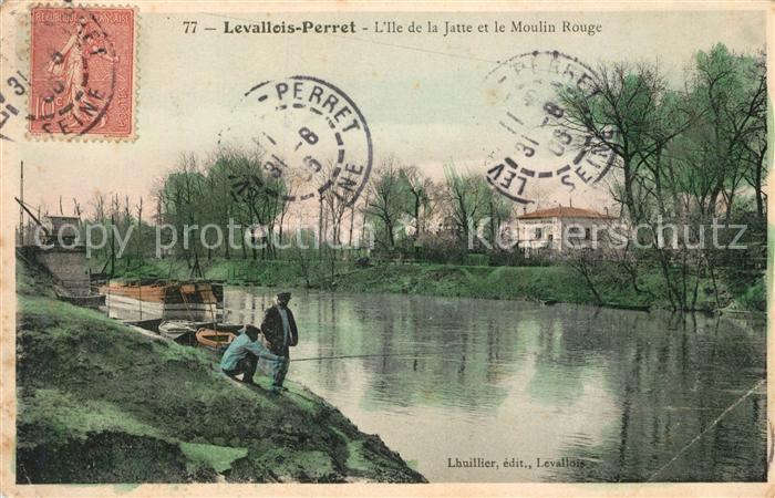 AK / Ansichtskarte Levallois Perret Ille de la Jatte et le Mouling Rouge Levallois Perret