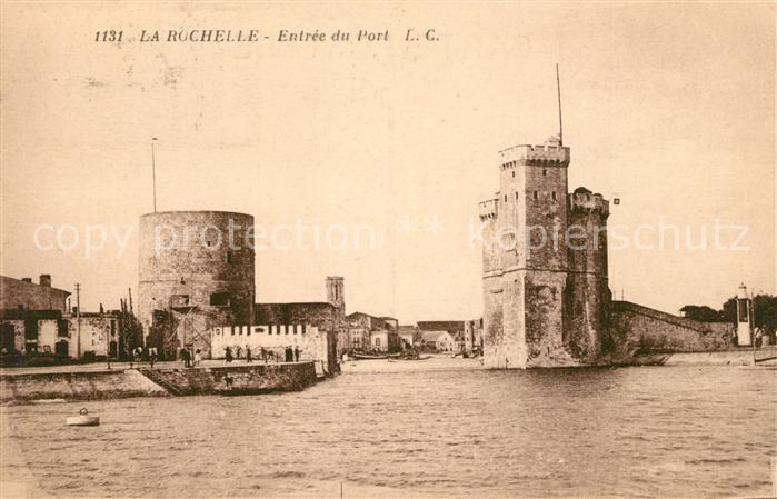 AK / Ansichtskarte La_Rochelle_Charente Maritime Entree du Port La_Rochelle