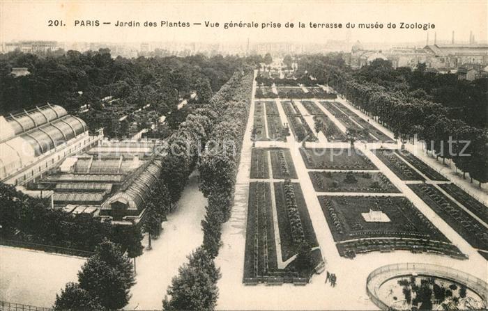 AK / Ansichtskarte Paris Jardin des Plates Vue prise de la terrasse du musee de Zoologie Paris