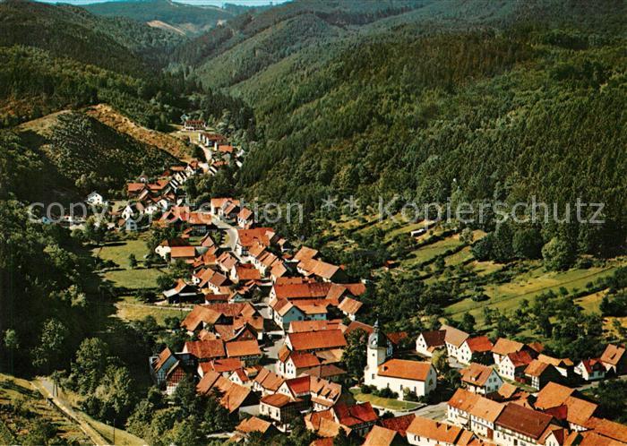 AK / Ansichtskarte Steina_Suedharz Fliegeraufnahme Steina Suedharz