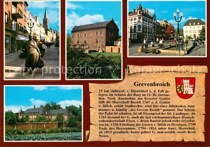 AK / Ansichtskarte Grevenbroich Breite Strasse Schloss Marktplatz Rathaus Grevenbroich