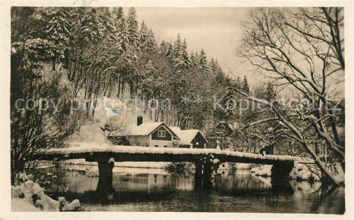 AK / Ansichtskarte Chocen Zima von Hradnikach Winter Chocen