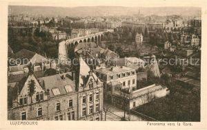 AK / Ansichtskarte Luxembourg Panorama vers la Gare Luxembourg