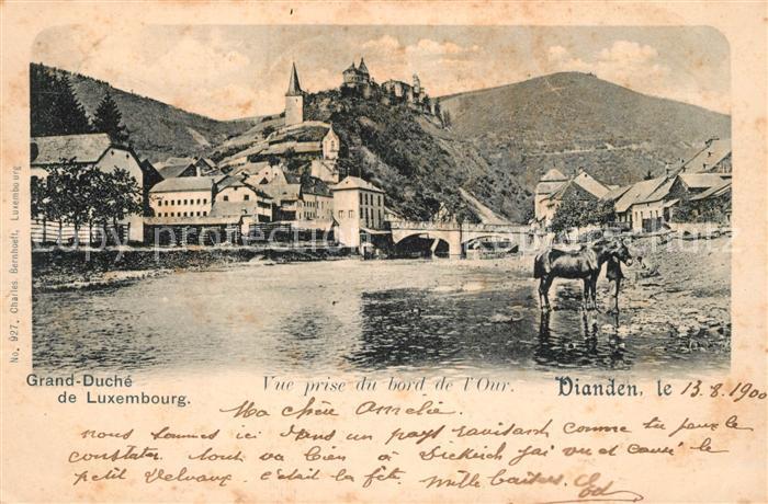 AK / Ansichtskarte Vianden Grand Duche de Luxembourg Vue prise du bord de l Our Vianden