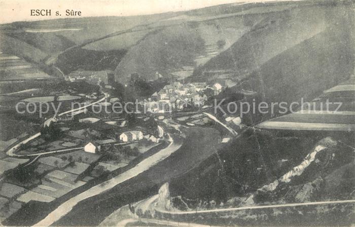 AK / Ansichtskarte Esch sur Sure Vue generale aerienne Esch sur Sure