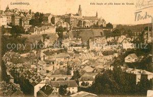 AK / Ansichtskarte Luxembourg Ville haute et ville basse du Grund Luxembourg