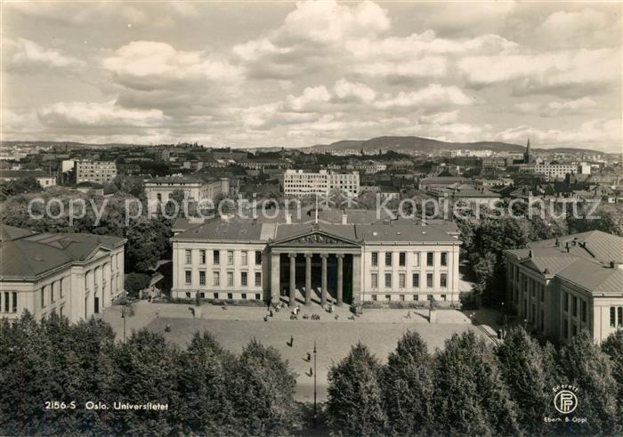 AK / Ansichtskarte Oslo_Norwegen Universitetet Universitaet Oslo Norwegen