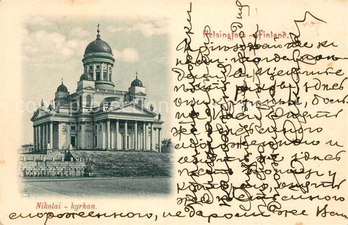 AK / Ansichtskarte Finnland Nikolai Kyrkan Finnland
