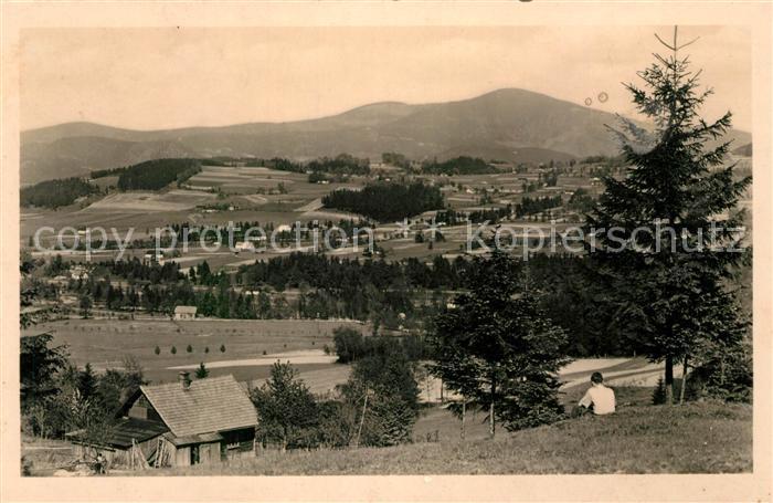 AK / Ansichtskarte Celadna Paseky V pozadi Lysa hora Celadna
