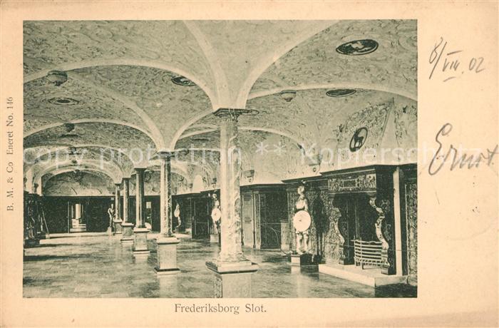 AK / Ansichtskarte Frederiksborg Slot Schloss Innenansicht Frederiksborg