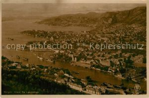 AK / Ansichtskarte Bergen Utsikt fra Lovstakken Bergen