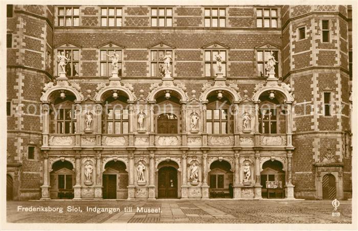 AK / Ansichtskarte Frederiksborg Slot Indgangen till Museet Schloss Museum Frederiksborg