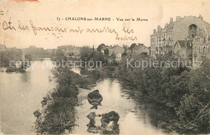 AK / Ansichtskarte Chalons sur Marne_Ardenne Vue sur la Marne Chalons sur Marne Ardenne
