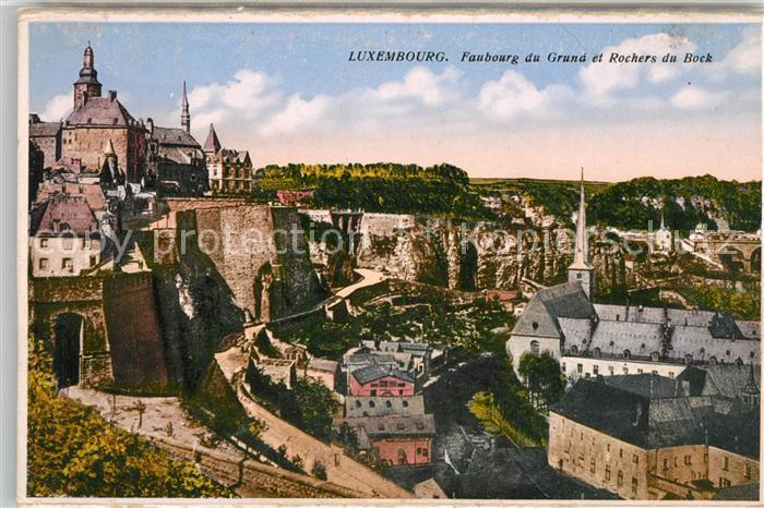 AK / Ansichtskarte Luxembourg_Luxemburg Faubourg du Grand et Rochers du Bock Luxembourg Luxemburg