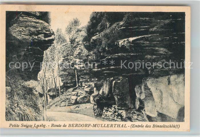 AK / Ansichtskarte Berdorf_Echternach Route de Berdorf a Mullerthal Petite Suisse Luxembourgeoise Berdorf Echternach