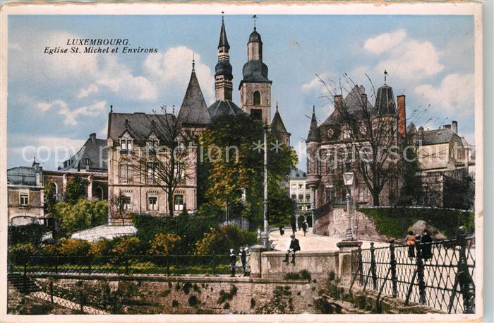 AK / Ansichtskarte Luxembourg_Luxemburg Eglise St Michel et environs Luxembourg Luxemburg