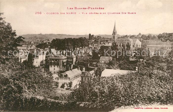 AK / Ansichtskarte Oloron Sainte Marie Vue generale du Quartier Sainte Marie Oloron Sainte Marie