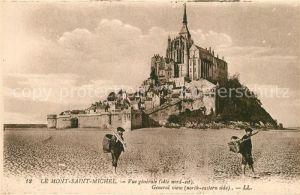 AK / Ansichtskarte Le_Mont Saint Michel Vue generale Le_Mont Saint Michel