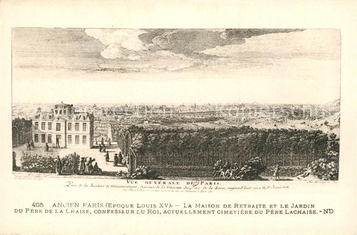 Ak ansichtskarte ancien paris vue generale de la ville for Les jardins de la ville paris