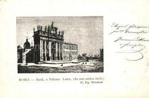 AK / Ansichtskarte Roma_Rom Basil Palazzo Later da una antica incis. Kuenstlerkarte Roma_Rom
